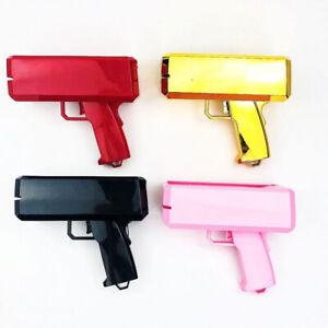 Supreme Money Gun Cash Cannon Gold Pink Launch Toy & 100 PCS Custom Dollar Bills
