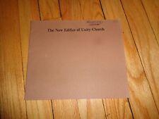 Book on Unity Church Oak Park Illinois Frank Lloyd Wright