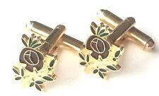 Freimaurer Rose Kreuzes Emaille Verziert Manschettenknöpfe (N236)