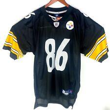 Reebok NFL Pittsburgh Steelers Hines Ward #86 Black Jersey Size Large