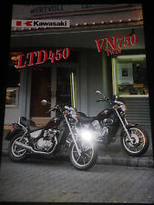 Prospekt Sales Brochure Kawasaki LTD 450 VN 750 Twin Technische Daten Motorrad