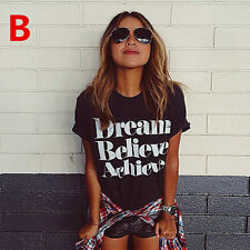 Fashion Women Casual Chiffon Blouse Short Sleeve Shirt T-shirt Summer Blouse Top