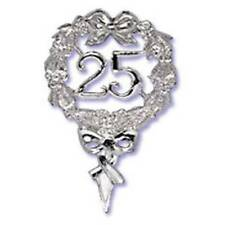 25th Silver Wedding Anniversary Pick Cake Decoration Topper Party Favor
