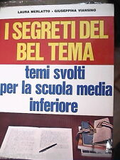 I SEGRETI DEL BEL TEMA Temi svolti Laura Merlatto Giuseppina Viansino Temario di