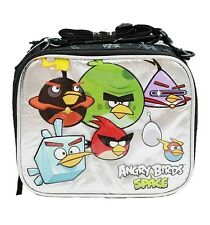 Licensed Rovio ANGRY BIRDS Black & Silver LUNCH BAG Lunchbag BOX TOTE CASE NEW!!
