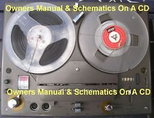 Tandberg 1200X Owners Manual & Schematics On A Cd
