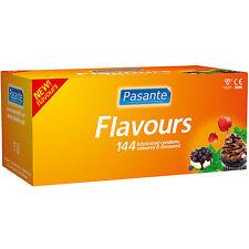 144 Preservativi Profilattici PASANTE Cioccolato Mirtillo Fragola + Durex Frutta