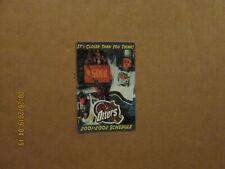 Uhl Missouri River Otters Vintage 2001-2002 Team Logo Hockey Pocket Schedule