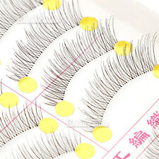 10 Pairs Makeup False Eyelashes Long Soft Handmade Fake Eye Lashes Natural Look
