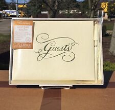 Wedding Guest Book With Pen Cream Color Marriage Register Book Gold Lame Cover
