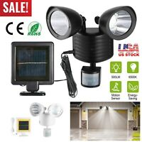 Solar Powered Motion Sensor Security Light 22 SMD LED Dual Head Waterproof New
