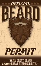 Official BEARD card  - plastic ID card Drivers License - with Great Beard comes