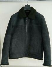 New Loro Piana Suede Stone Coal Navy Blue Green Fur inside Shearing Jacket 40/50
