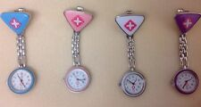 Nurses Stainless Steel Quartz Silver Clip On Fob Watch In Four Different Colours