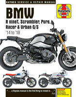 BMW R nineT R9T Scrambler, Pure, Racer & Urban 2014 - 2018 Haynes  Manual 6402