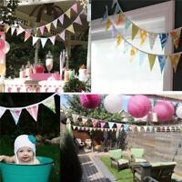 12 Flags Pennant Bunting Banner Flag Wedding Nursery Birthday Party Decor CF
