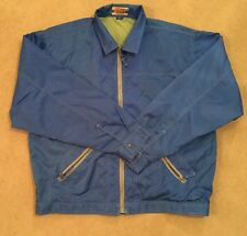 Men's Size Large Bright Blue Water Proof Wind Proof Coat Jacket By Iron Hammer