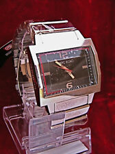"""NEW MARC ECKO MEN'S """"Beveled Crystal"""" STAINLESS STEEL WATCH E95011G1"""