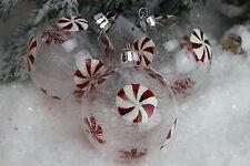 Gisela Graham Navidad vidrio transparente con cristal Shreds CANDY disco Bola X