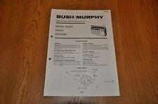 Bush / Murphy BV5653  AM / FM  radio Receiver TP1926 Vintage Service Manual