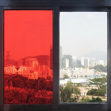 Red Decoration Window Film Solar Tint Transparent Self Adhesive Glass Sticker