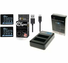 Ex-Pro BC-W126 NP-W126 LCD DUAL Go-Charge USB 2x Battery for Fuji X-Pro1 XPro1