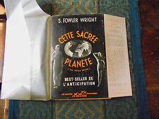 Fowler Wright cette sacrée planète les Horizons du Fantastique 1953 E.0.