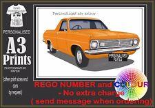 66-68 HR HOLDEN UTE A3 ORIGINAL PERSONALISED PRINT POSTER CLASSIC RETRO CAR