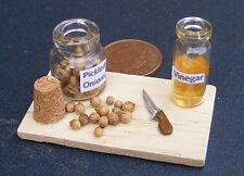 1:12 Pickled Cipolla Set Su Un Tavola Cucina In Miniatura Casa Di Bambole Cibo