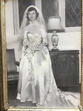 Vintage Wedding dress - 1950's beautiful formal dress professionally preserved