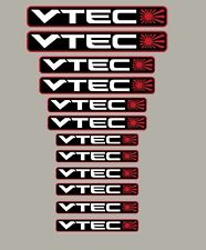 Vtec Rising Sun sticker lot de 12 autocollants
