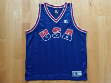 Vintage USA Basketball Jersey by Starter Size L M Blue Champion Olympic