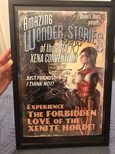 Xena Warrior Princess Autographed Framed Poster Lucy Lawless Renee O'Connor