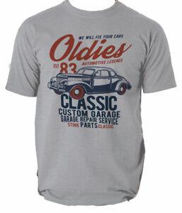 Car T Shirt Classic Retro Enthusiast Various Sizes Colours Gift Oil Mens S-3XL