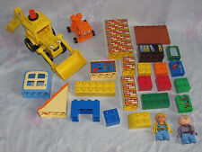 Lego Duplo Bob The Builder Lot - Bob, Spud, Scoop, Parts To Dizzy, Bricks