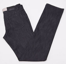 NWT $650 BRIONI 'Livigno' Charcoal Black Denim Jeans 31 W Slim Straight-leg Cut