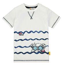 STEIFF® Jungen T-Shirt kurzarm Bär Weiß 80-122 F/S 2020 NEU!