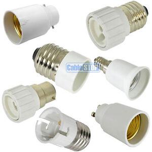 Light Bulb Converter Holder Adapter SES S27 B22 BC S14 SE GU10 Lighting Fitting