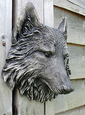 Timber Wolf Wall Plaque Hanging Figurine Home or garden waterproof