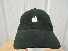 VINTAGE QUAKE CITY CAPS APPLE MAC LOGO SEWN BLACK STRAPBACK HAT CAP PREOWNED
