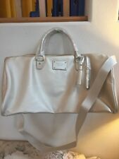 7029cc075f77 MICHAEL KORS gold metallic tote bag shoulder duffle canvas travel gym  Handbag