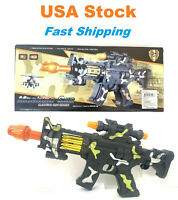 14/'/' Light Up Combat Flash Gun Toy Battery Operated with Military Sound