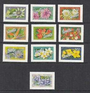 VANUATU, SC 890-907, complete Flowers issue (domestic & International). MNH.