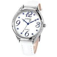 Comtex Women's Wrist Watch with White Dial Analogue Display Ladies Watches Water