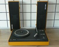 Vintage Rare 70s. Portable Record Player 603 Philips 22GF603/03E Perfect looks!