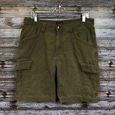 Wolverine Men's 34 Oakland Peat Brown Cargo Shorts Dark Khaki Shorts