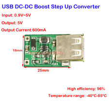 DC-DC 1V-5V to 5V Step Up Converter 600mA USB Boost Mobile Power Supply Charger