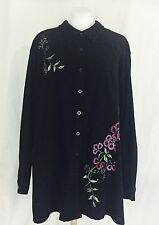 Embroidered Evening Coat. Women's. Size 22. Carnation Design. Perfect.