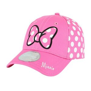 Minnie Mouse Bow Pink/White Cotton Baseball Cap with Embroidered Logo Kids