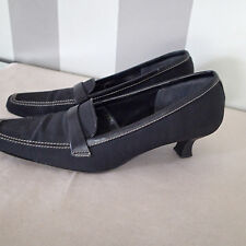 stuart weitzman shoes 8  B ,BLACK FABRIC ,P